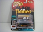 Ford Country Squire 1960 Black with Flames 1:64 Johny Lightning
